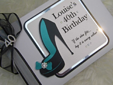 Personalised Birthday Guest Book - Stiletto Shoe